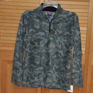 Boys Camouflage Micro Fleece Top